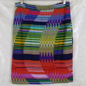 Dressbarn Stretch Knit Printed Pencil Skirt